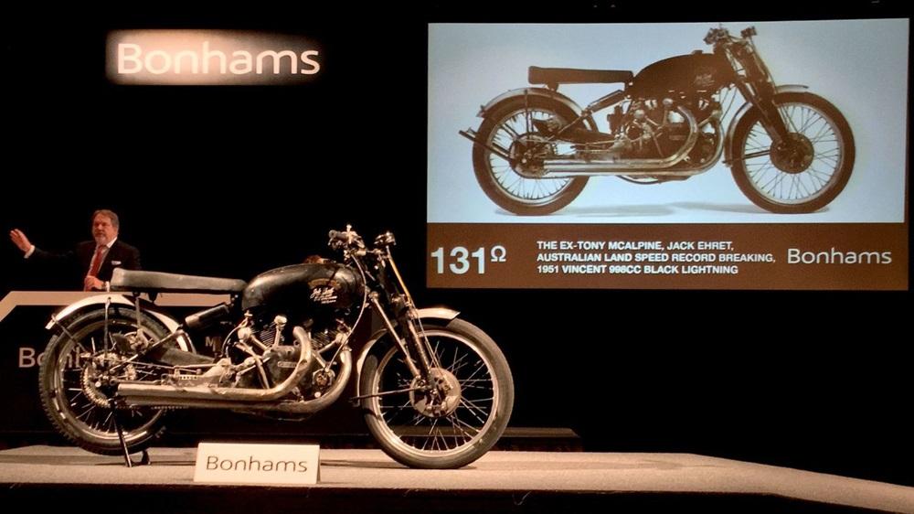 Vincent Black Lightning 1951 - самый дорогой мотоцикл в мире, 929 000 долларов