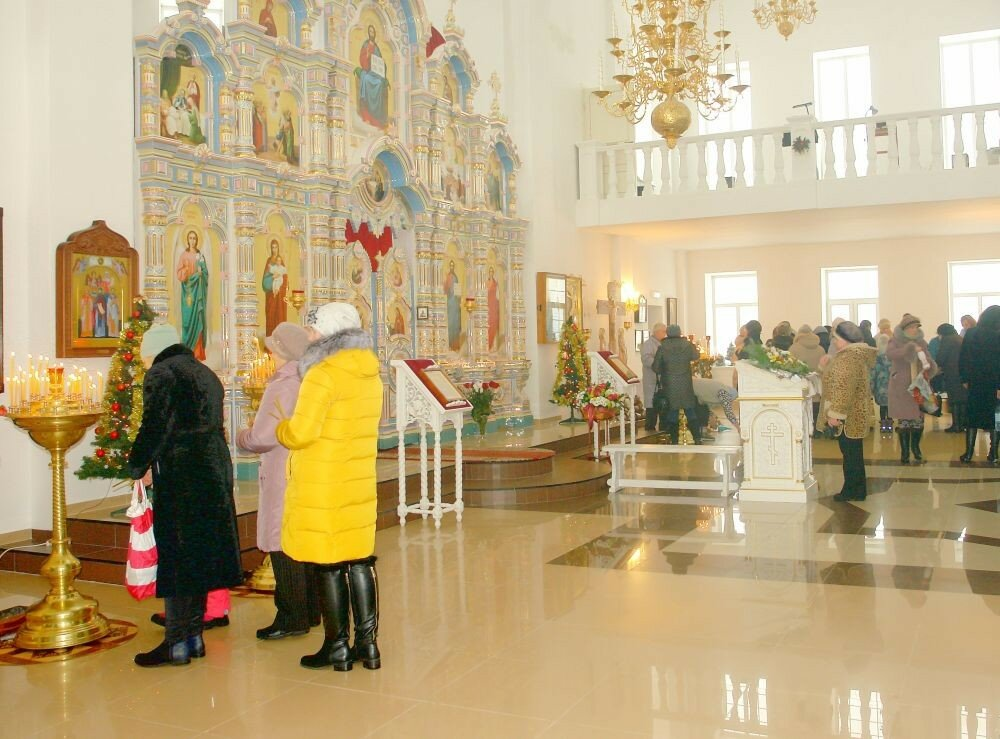 Праздник крещения в ярцевском храме