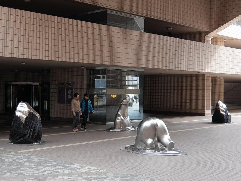 Гонконг - Скульптуры у культурного центра
