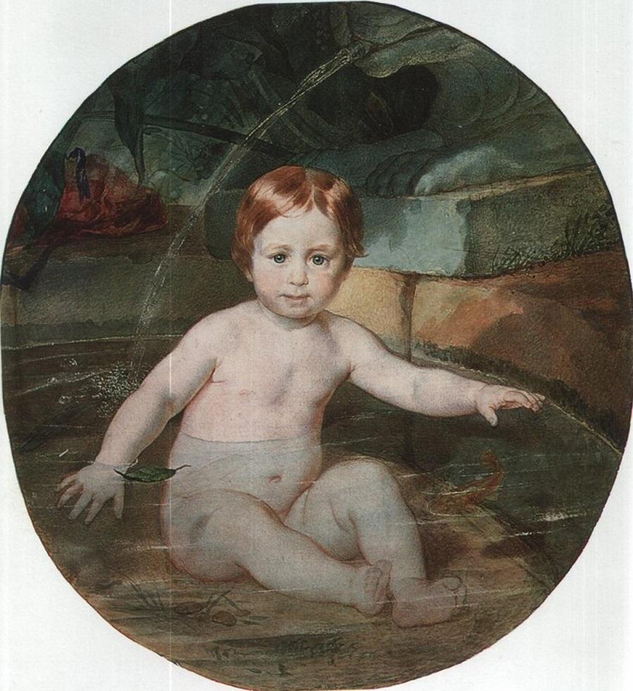 Портрет А. Г. Гагарина (Ребёнок в бассейне) Третьяковская галерея, Москва.
