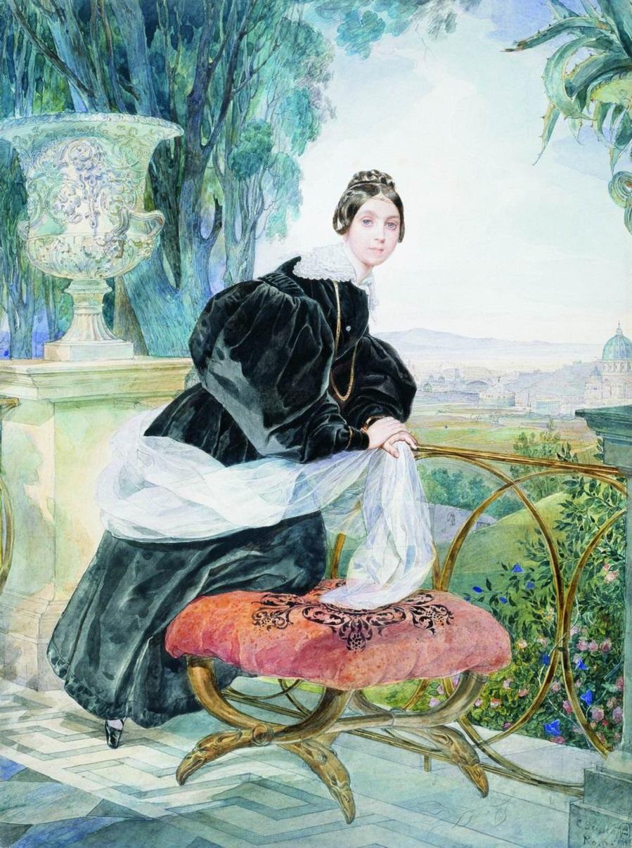Портрет кн. Е.П.Салтыковой. 1833-1835 Государственный Русский музей, С.-Петербург
