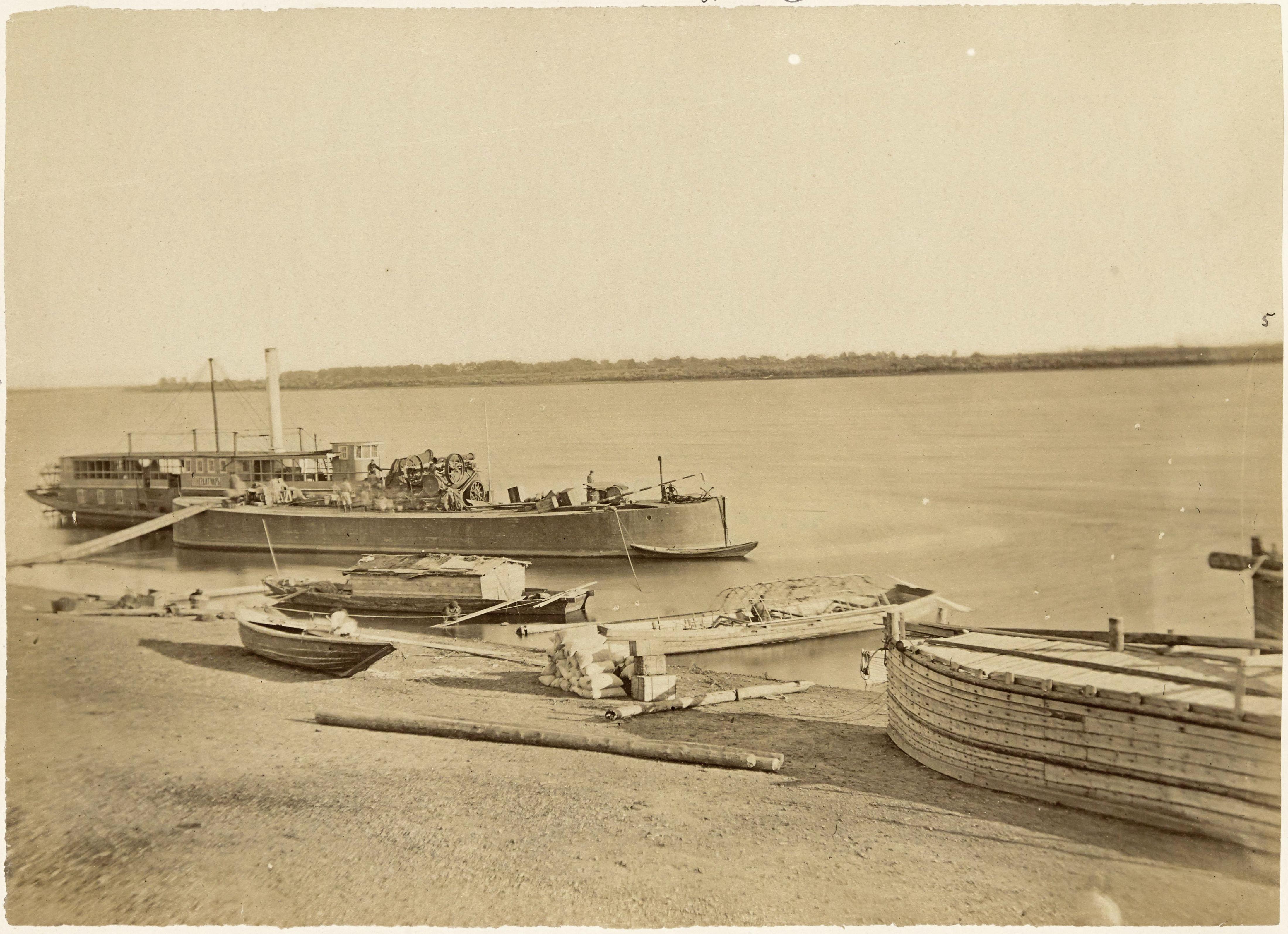 Пароход у пристани. 1870