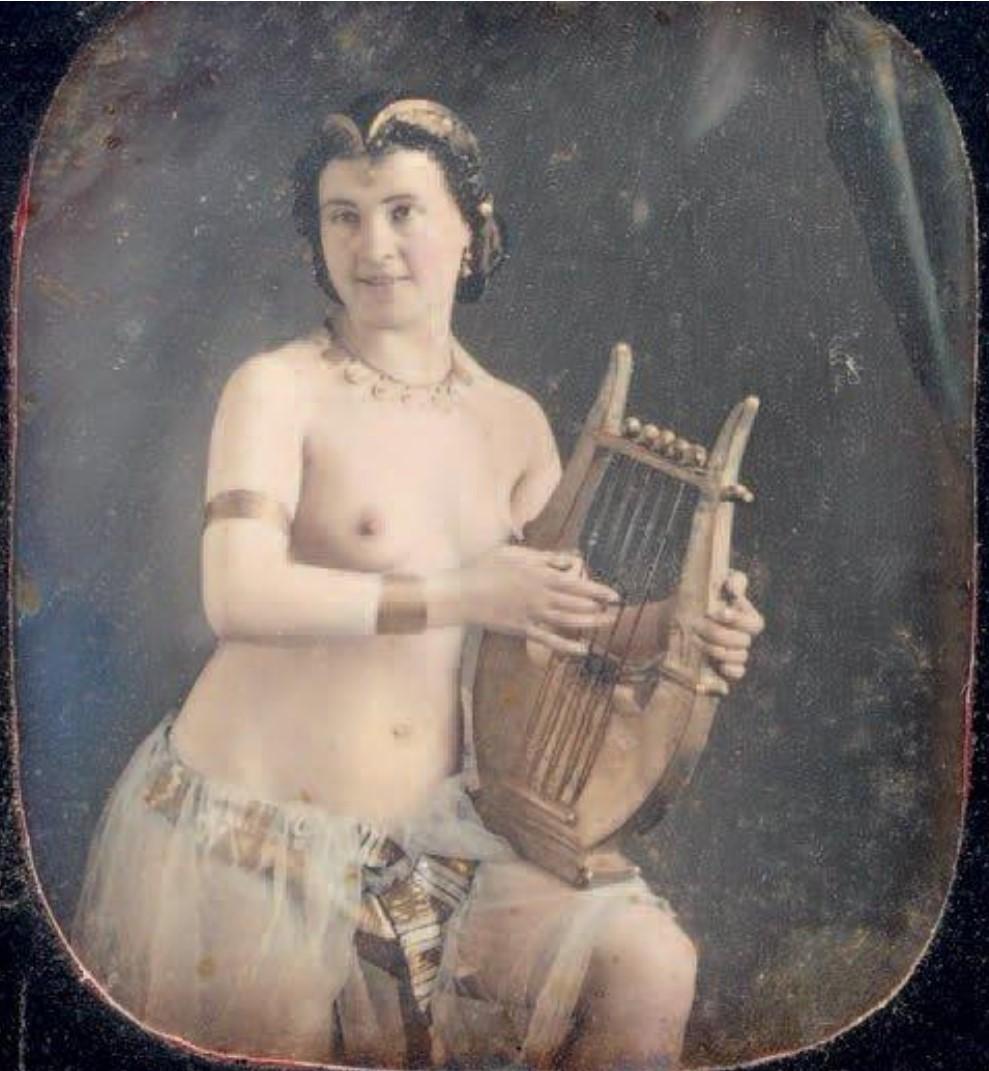 1850-1853. Обнаженная с лирой