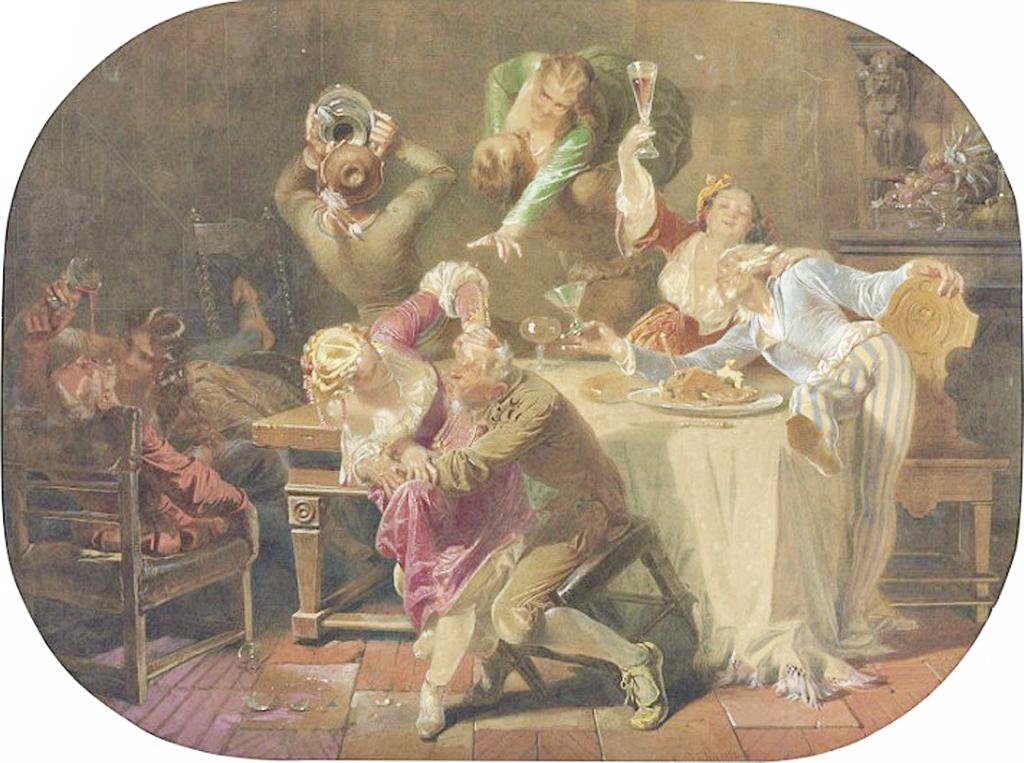 Merrymaking, 1858, Зичи, Михаил Александрович (1827-1906)