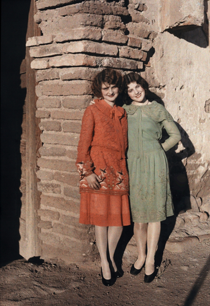 clifton r adams- two flappers - mexican border -.jpg