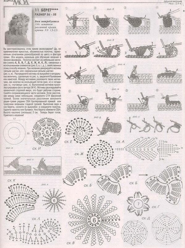 Журнал мод 594 вязание стильные модели 18