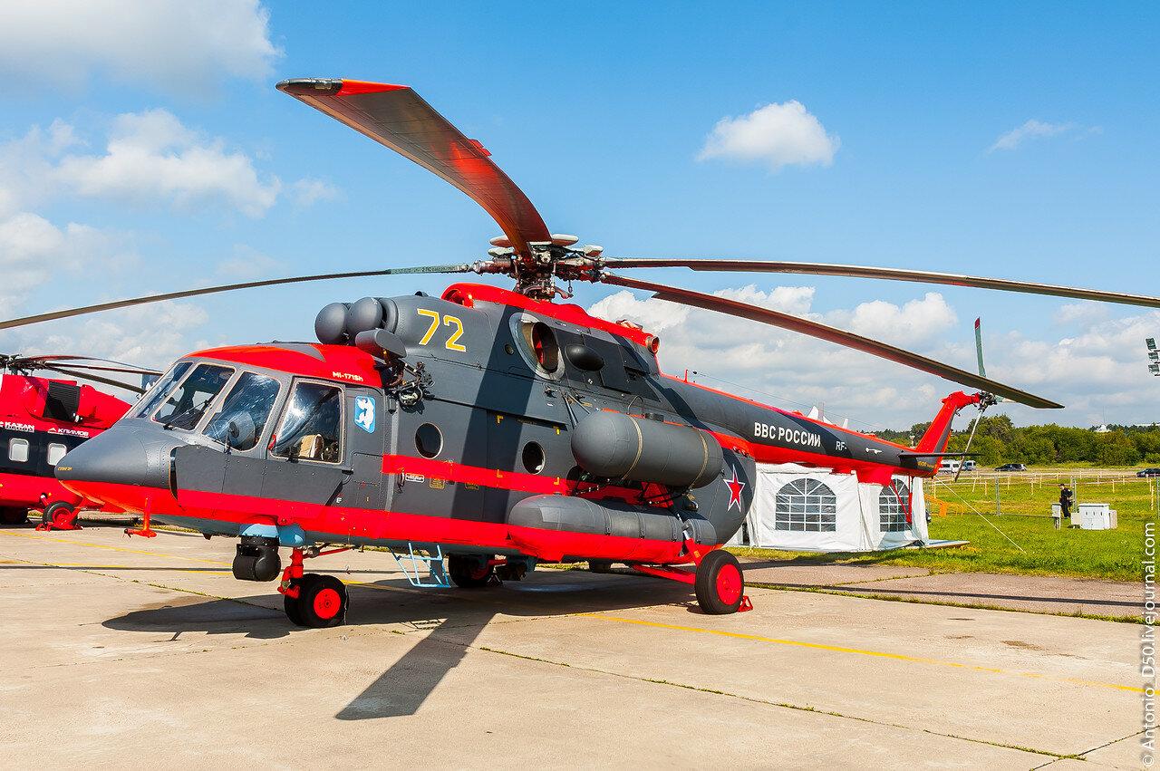 Ми-8АМТШ(Ми-171Ш) б/н 72 на МАКС-2017.