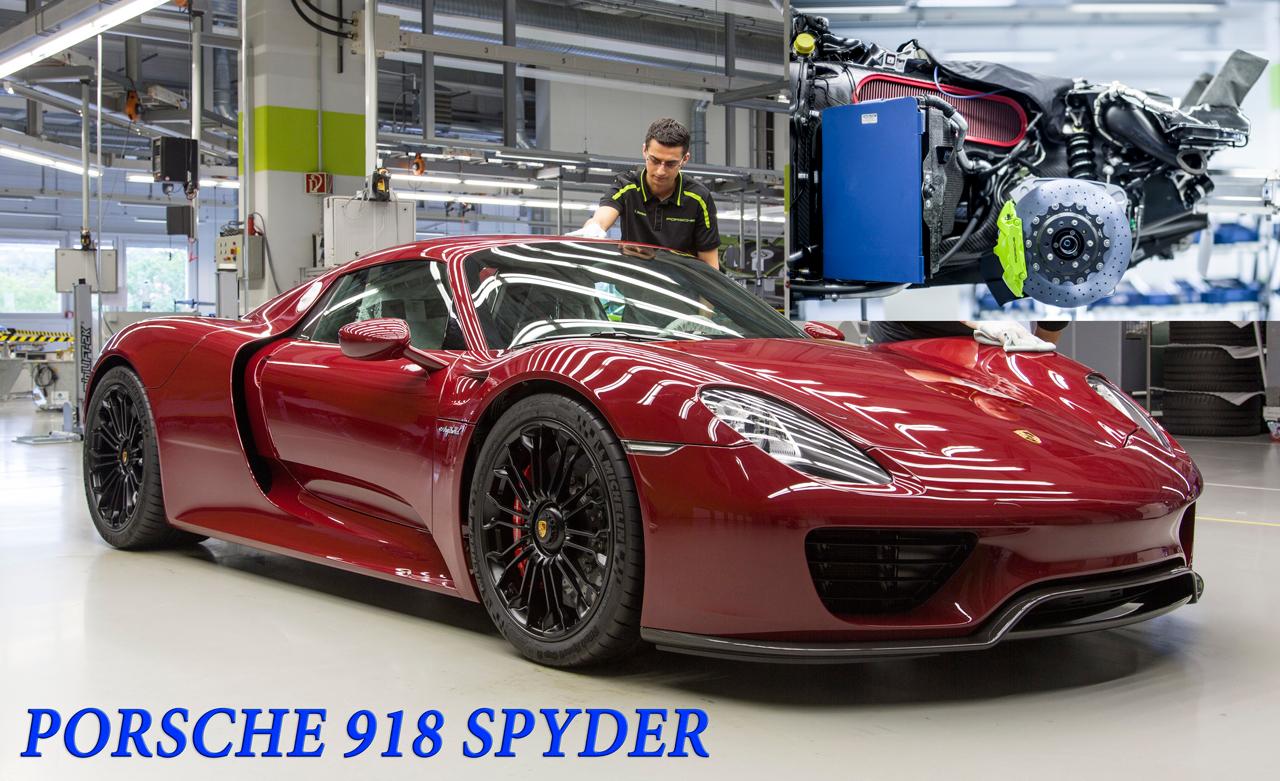Полная сборка автомобиля PORSCHE 918 SPYDER