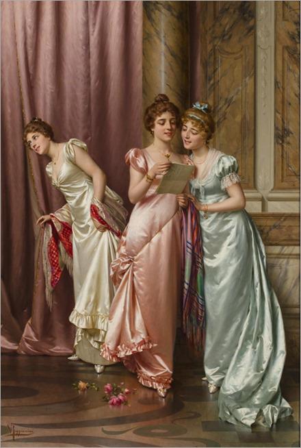 the-letter-oil-on-canvas-reggianini vittorio 1858-1938