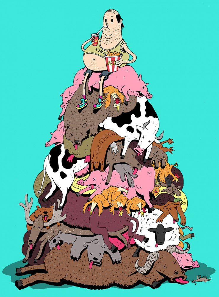 Все грехи нашего мира в сатирических иллюстрациях Стива Каттса (20 фото)
