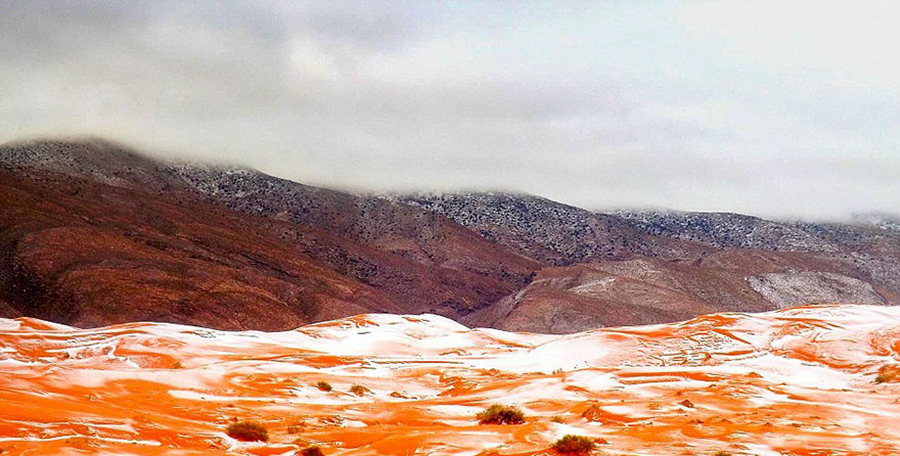 В Сахаре выпал снег впервые за 37 лет (7 фото)