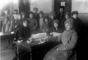 Группа уральских большевиков – членов Совета рабочих и солдатских депутатов. 1917