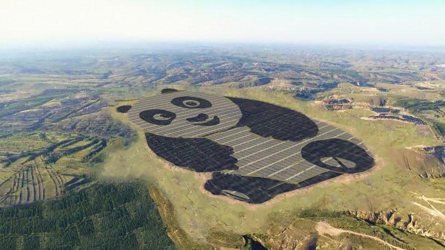 Солнечная электростанция в виде Большой панды