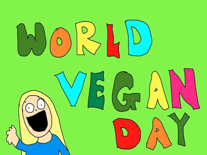 1 ноября. Всемирный день вегана. Девушка