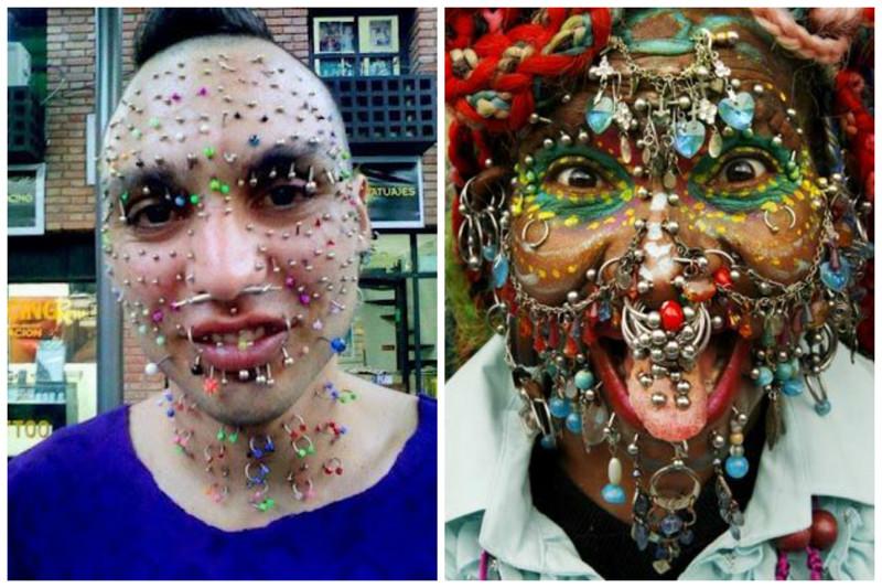Безумный макияж, татуировки и автозагар тоже часть безумной трансформации