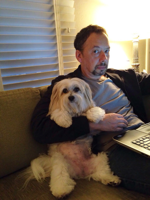 """13. """"Отец был не в восторге от идеи завести собаку. Но щенок в него сразу влюбился…"""""""