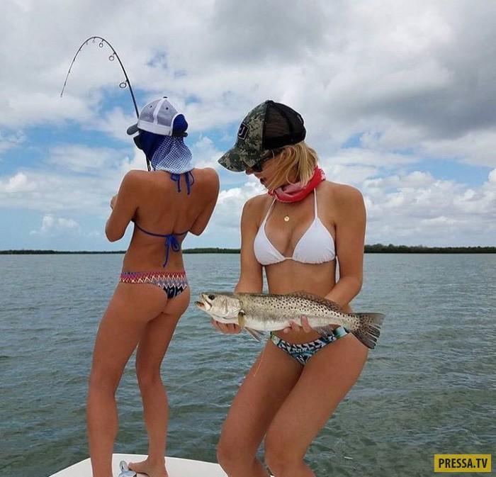 Сногсшибательные рыбачки в бикини