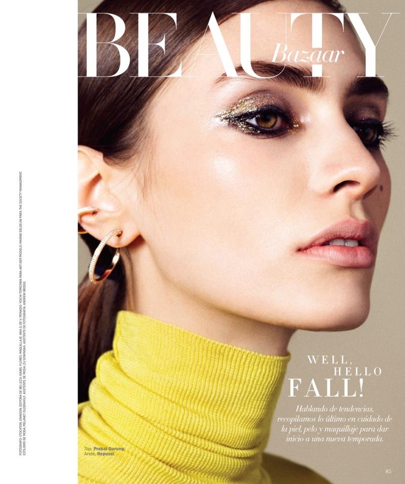 Марин Делю для латиноамериканского Harper's Bazaar (8 фото)