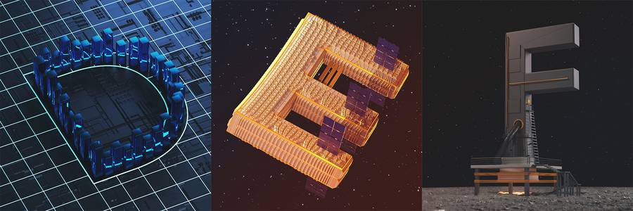 Creative 3D Alphabet Letters by Linus Zoll
