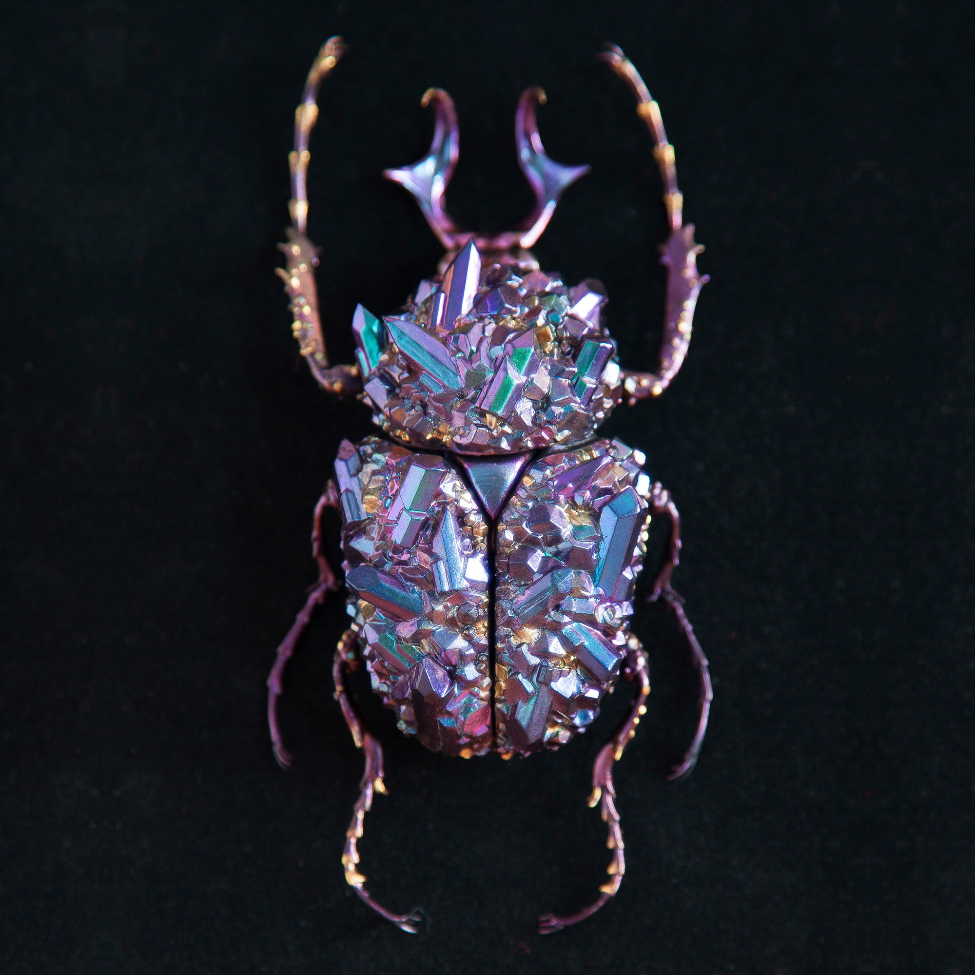Beetle Sculptures Encrusted with Minerals by Nozomi (7 pics)