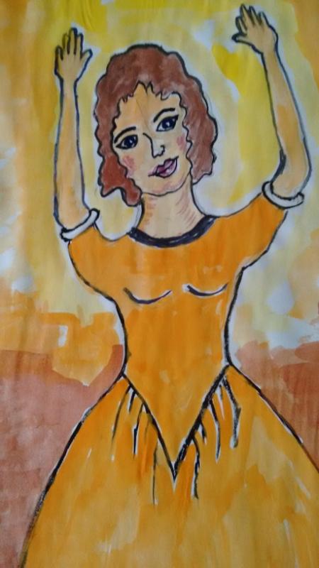 Девушка  в  танце.