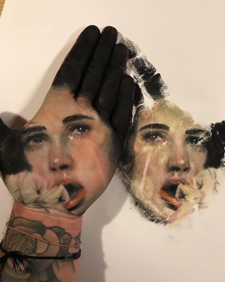 Hand Stamp Body Art Reimagines Traditional Body Painting Techniques