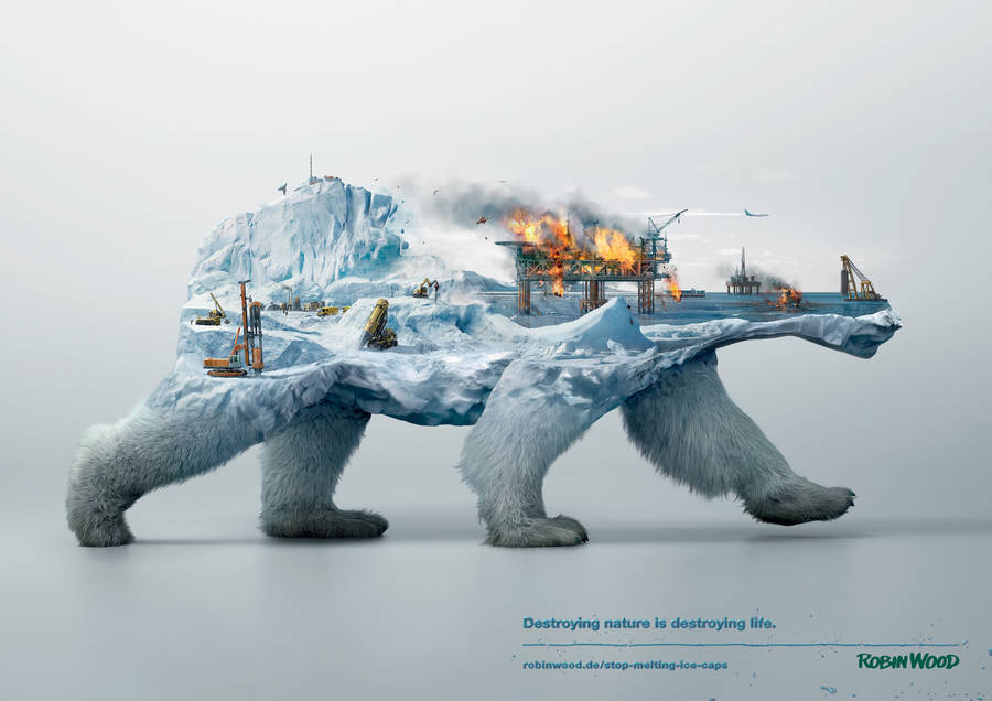 Destroying Nature is Destroying Life Ad (5 pics)
