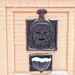Питьевой фонтанчик в виде головы Бахуса