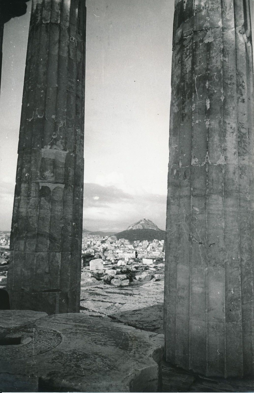1950. Афины. Акрополь. Пропилеи