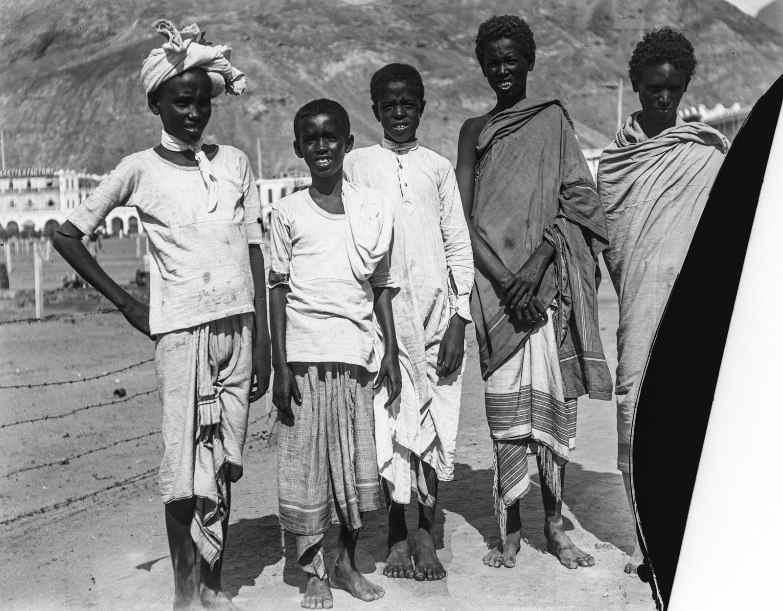 03. Аден. Портрет пяти молодых сомалийцев