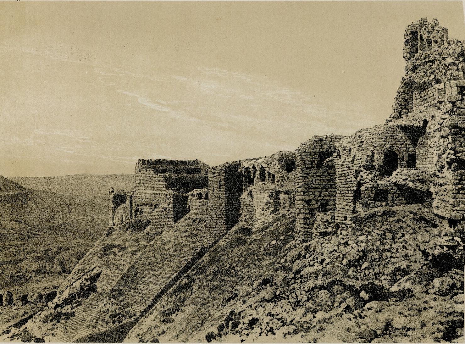 58. Эль-Карак. Северо-восточный угол крепости