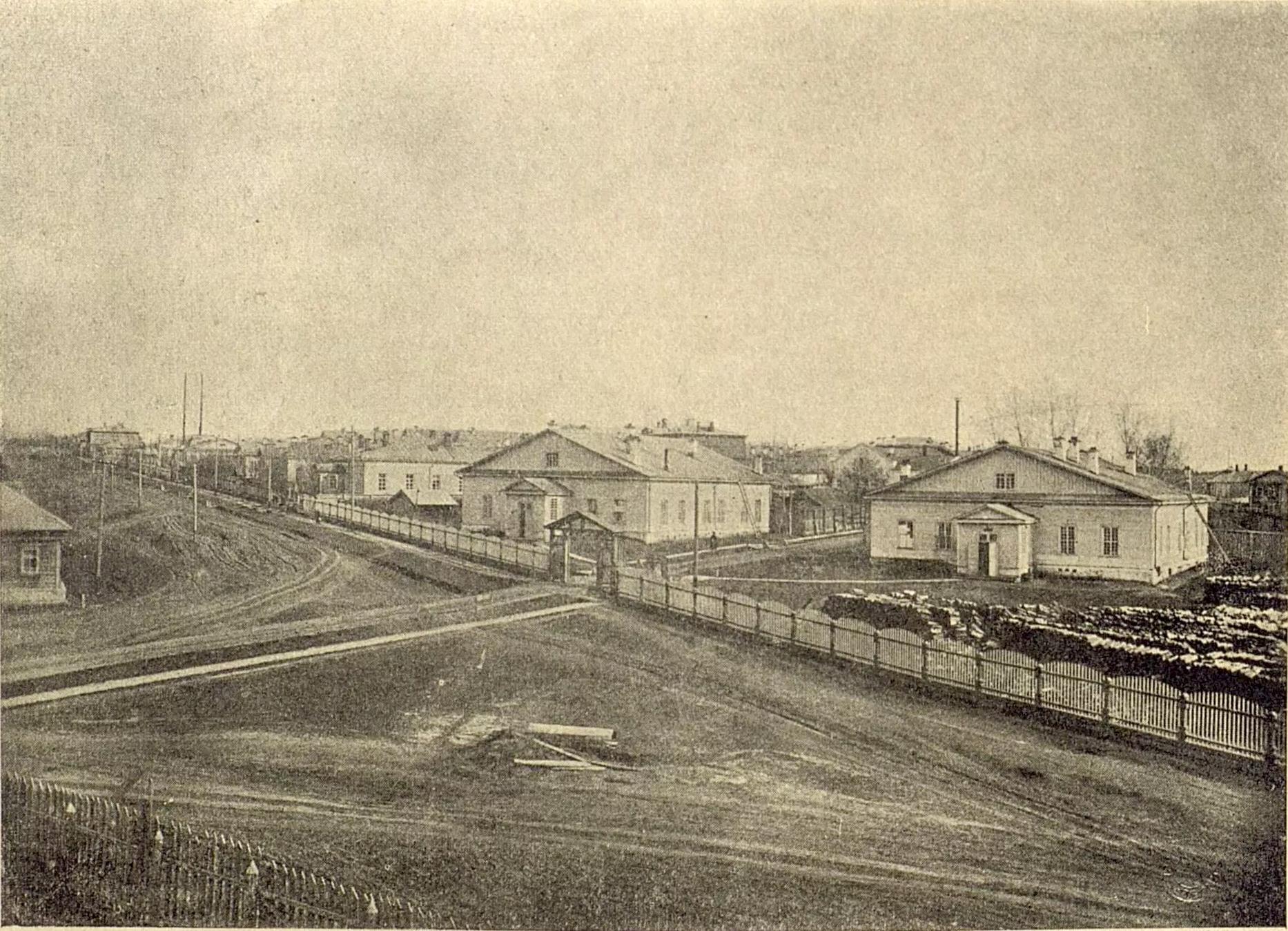 Старые бараки при губернской земской больнице