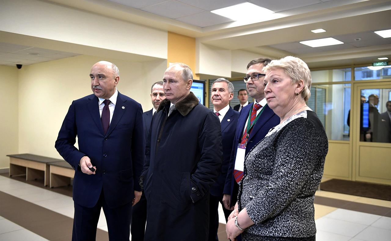 Посещение Института фундаментальной медицины и биологии 25/01/2018, Казань