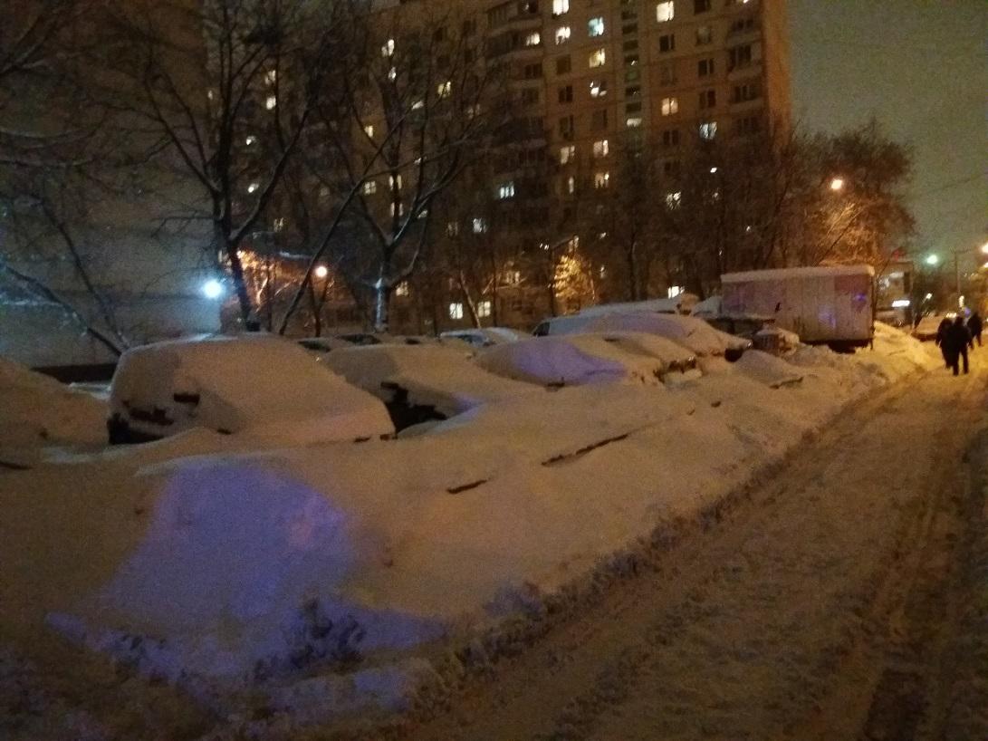 московская зима февраль 2018