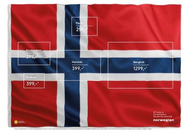 © norwegian      Наверное, зонтики расхватывают, как горячую картошку, даж