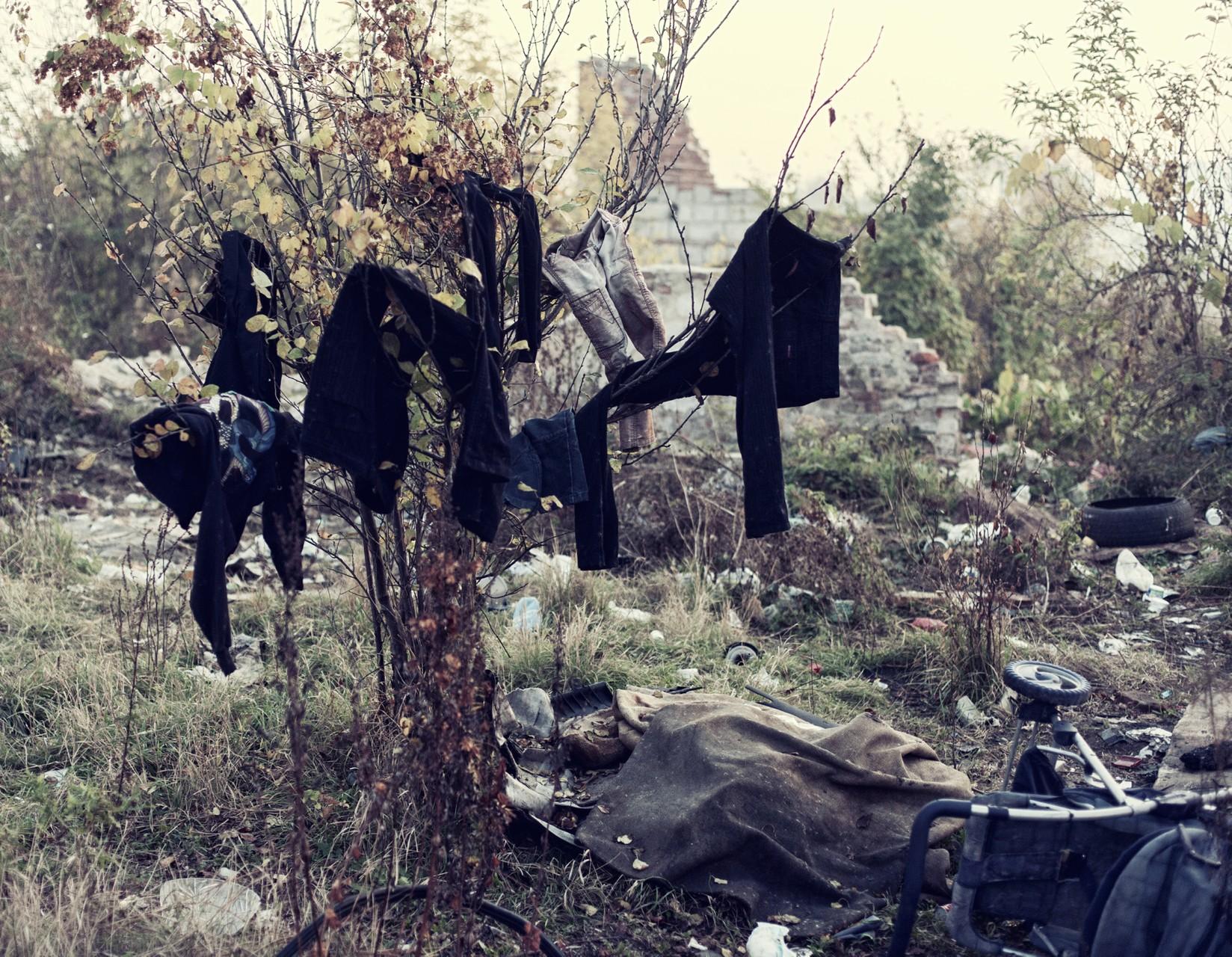 Внутреннее убранство одного из цыганских бараков во Вроцлаве.