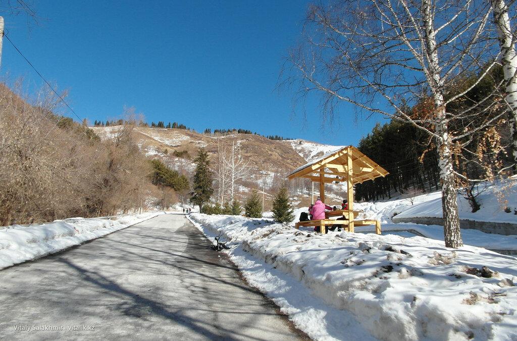 Дорога на Кимасар Алматы.