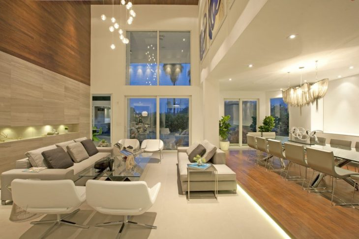 DKOR Interiors designed this modern two-story residence located in Miami, Florida. Take a look at th