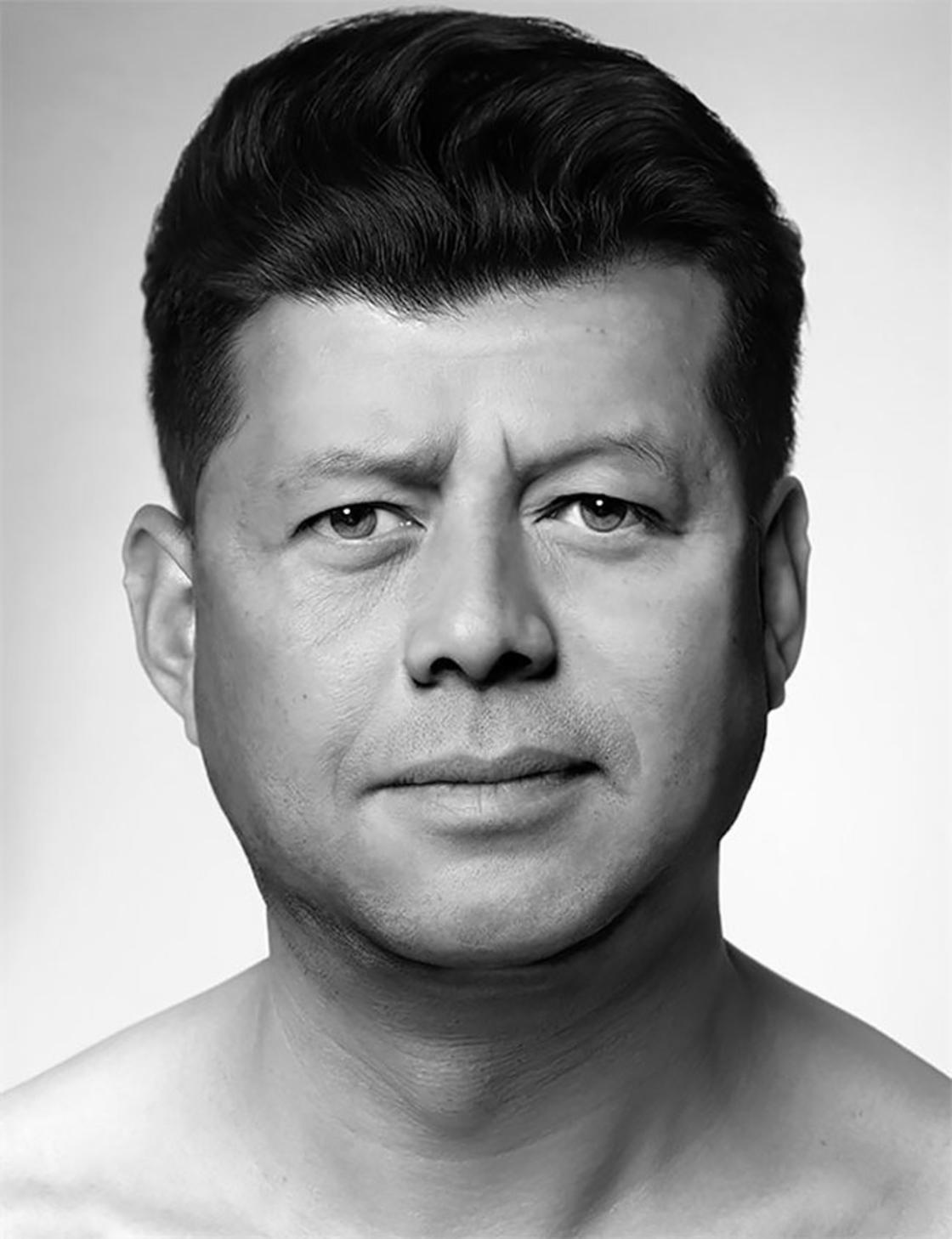 Esse artista cria retratos famosos misturando rostos desconhecidos