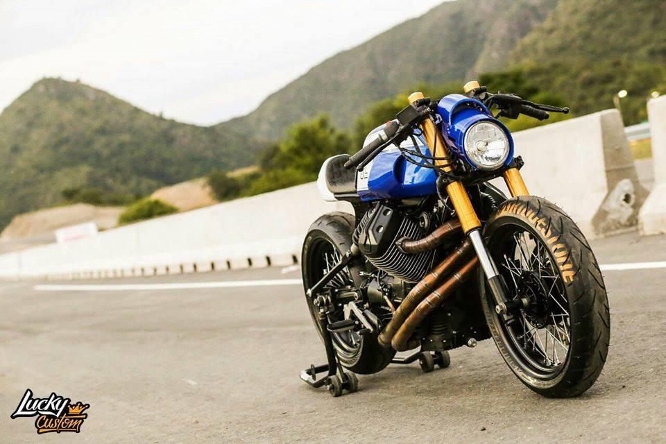 Lucky Custom: кафе рейсер Moto Guzzi V7 Stone