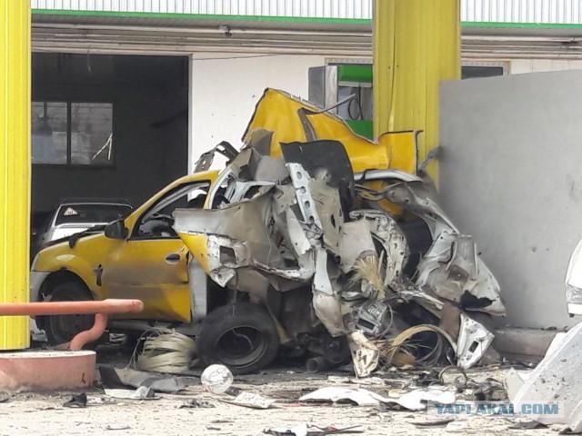 Взрыв газового баллона в авто на АЗС в Минводах