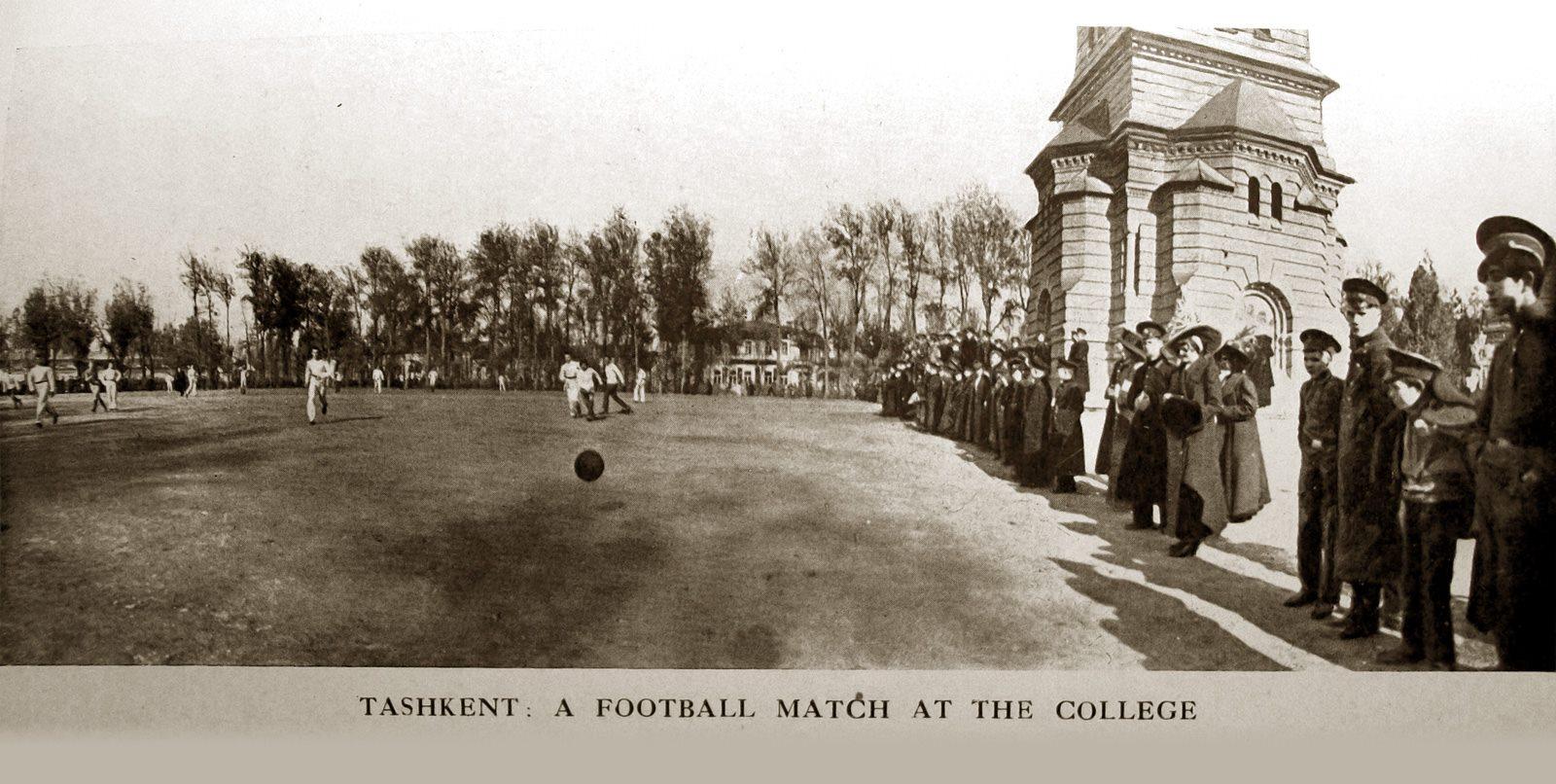 Футбольный матч в Ташкентском кадетском корпусе
