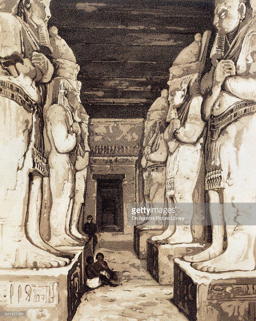 1841. Интерьер храма Герф-Хусейна