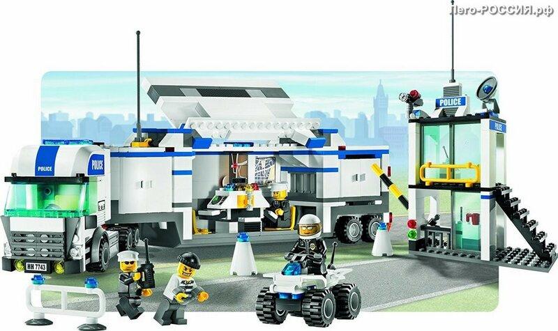 Инструкция LEGO 7743 Police Truck (Полицейский фургон)