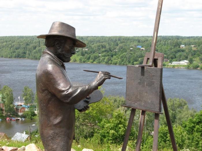 Памятник Исааку Левитану.     Кириллов, Вологодская область