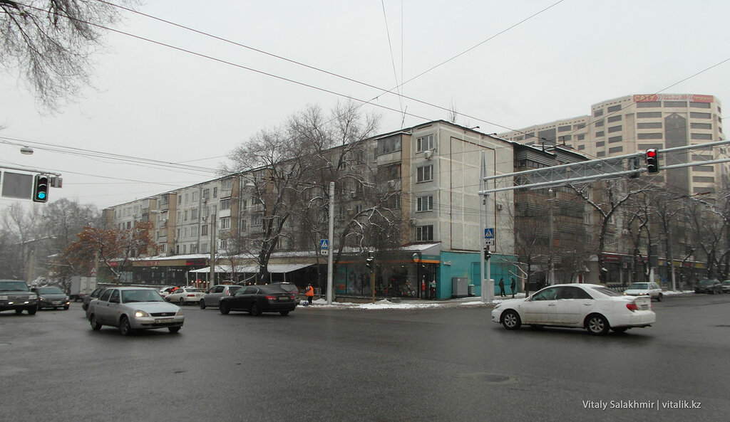 Перекресток Гоголя-Байтурсынова.