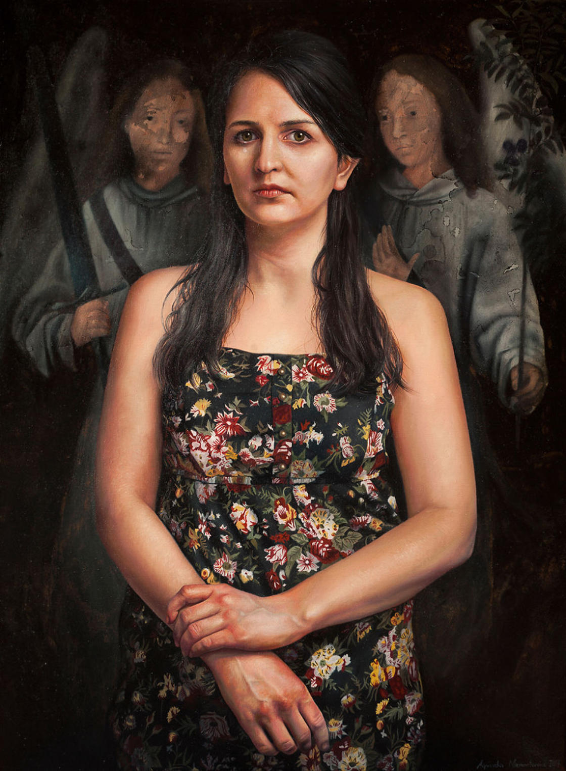 Classical painting invades these beautiful hyperreal portraits