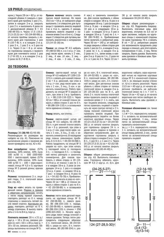 Верена вязание спицами для женщин с описанием 51