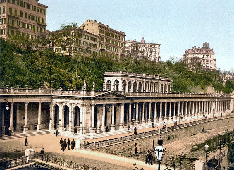 Мельничная колоннада в конце XIX века