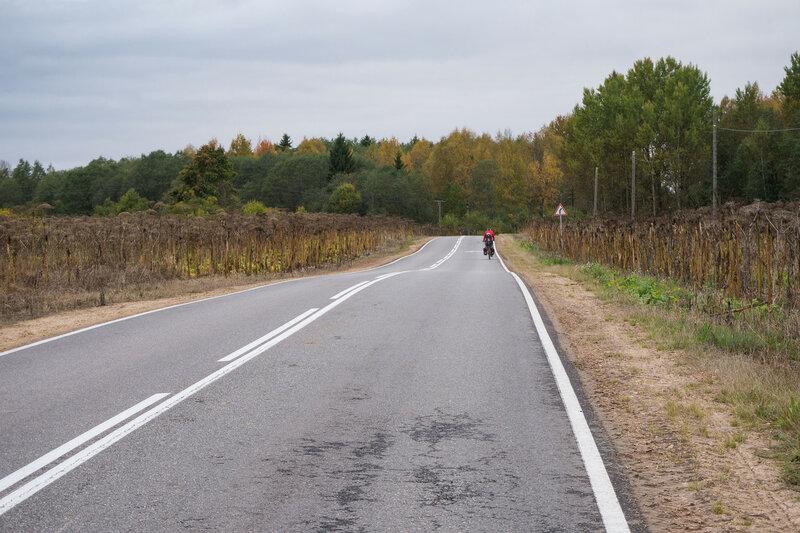 шоссе от Тесово-4 в Оредеж